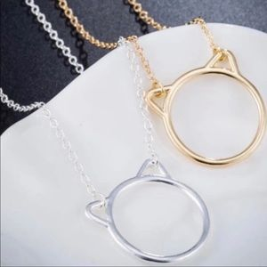 Jewelry - Cat Lovers Necklace In Gold and Silver
